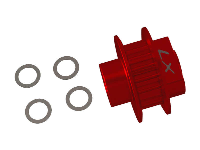 LX2667-7 FireBall 280 - 18T Tail Pulley, Red